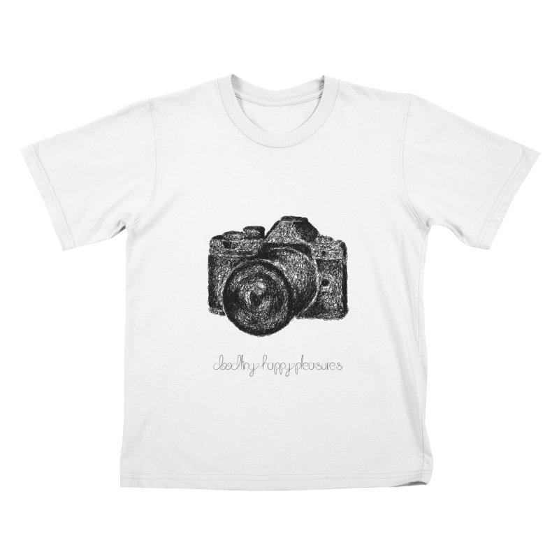 Photo Camera Doodle Kids T-Shirt by BrocoliArtprint
