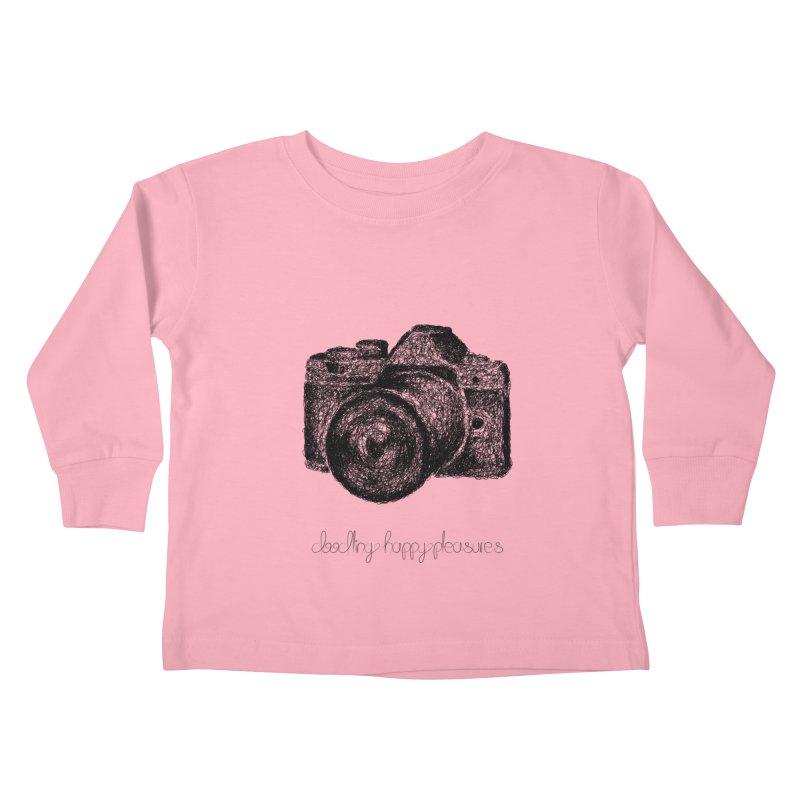 Photo Camera Doodle Kids Toddler Longsleeve T-Shirt by BrocoliArtprint