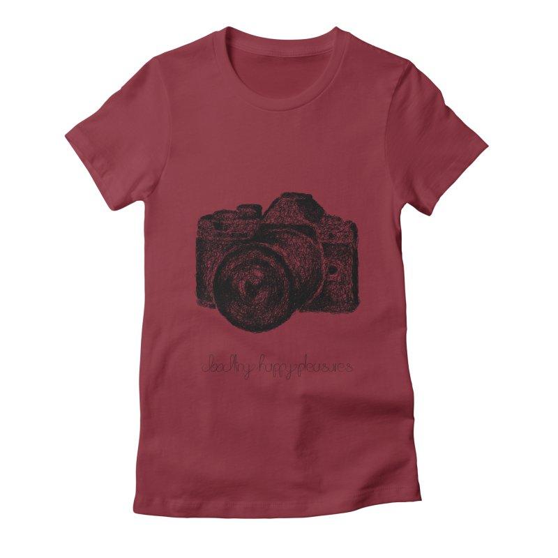 Photo Camera Doodle Women's T-Shirt by BrocoliArtprint