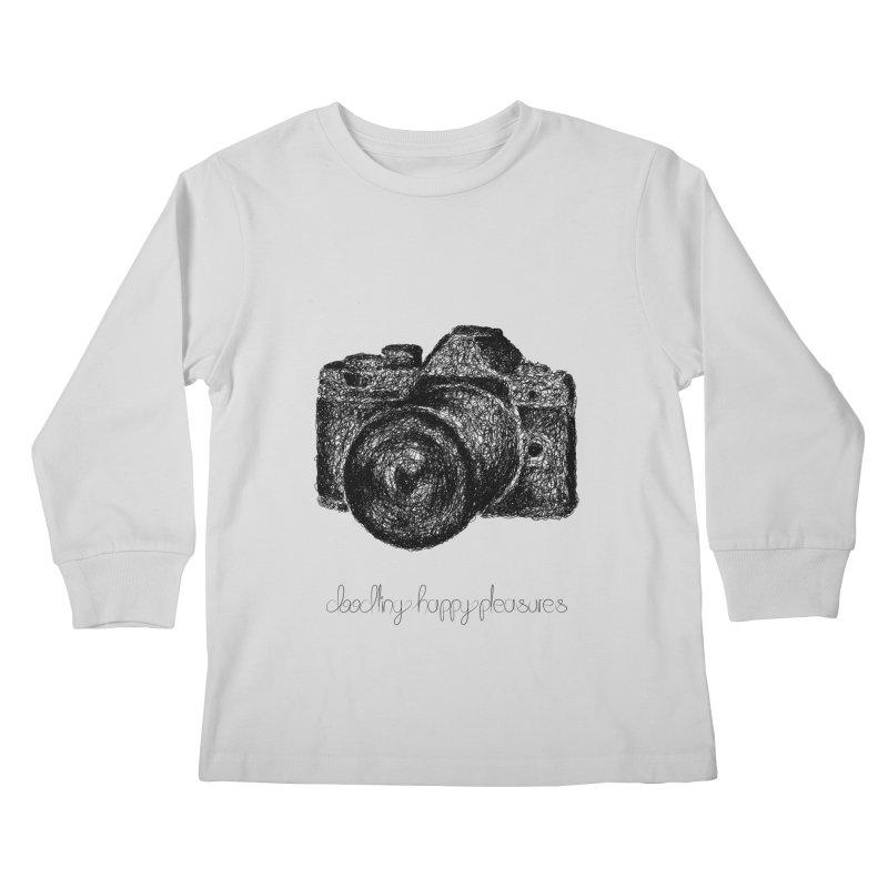 Photo Camera Doodle Kids Longsleeve T-Shirt by BrocoliArtprint