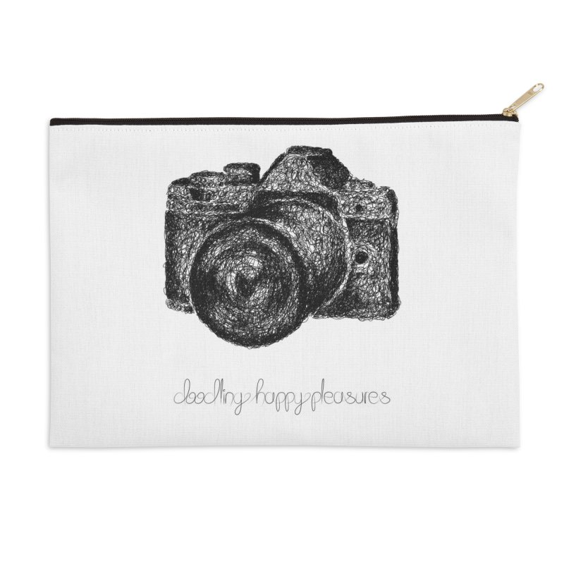 Photo Camera Doodle Accessories Zip Pouch by BrocoliArtprint