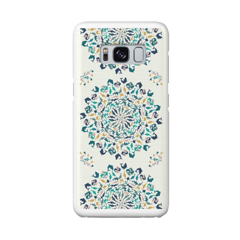 Sharks on Mandala Accessories Phone Case by BrocoliArtprint
