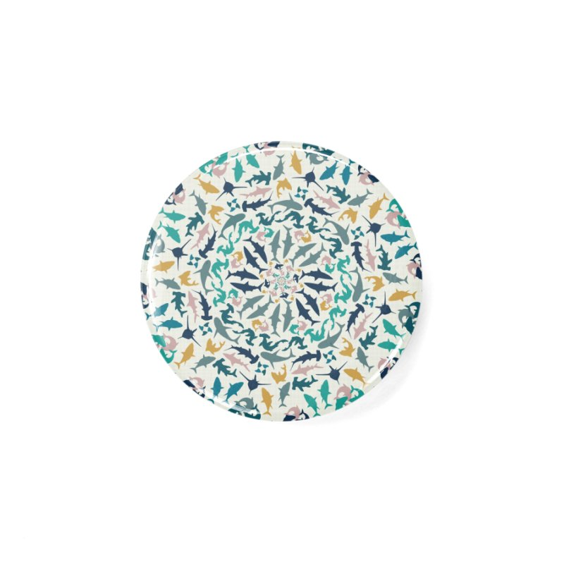 Sharks on Mandala Accessories Button by BrocoliArtprint