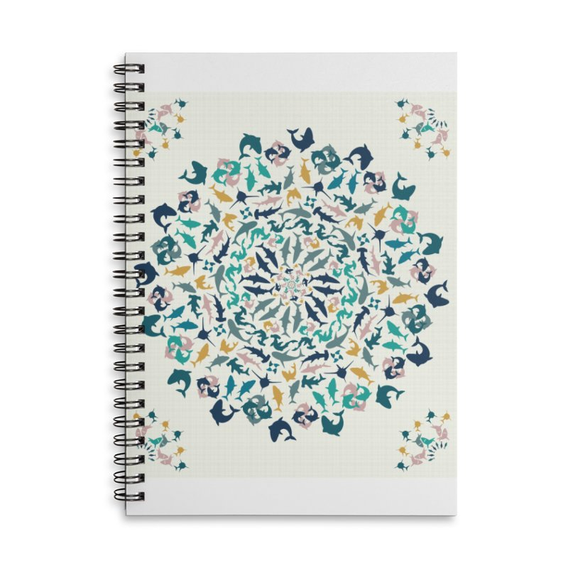 Sharks on Mandala Accessories Notebook by BrocoliArtprint