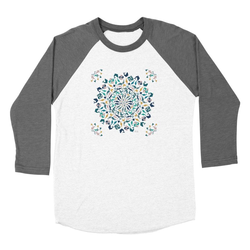 Sharks on Mandala Women's Longsleeve T-Shirt by BrocoliArtprint