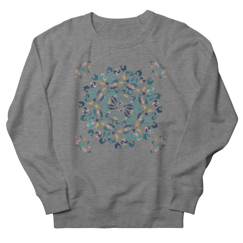 Sharks on Mandala Women's Sweatshirt by BrocoliArtprint