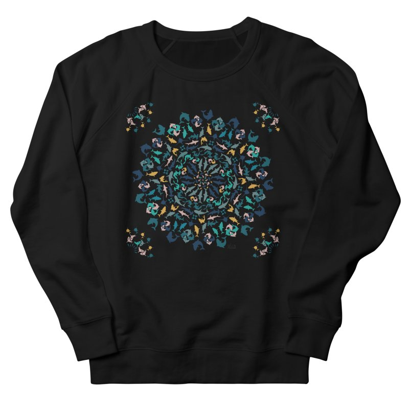Sharks on Mandala Men's Sweatshirt by BrocoliArtprint