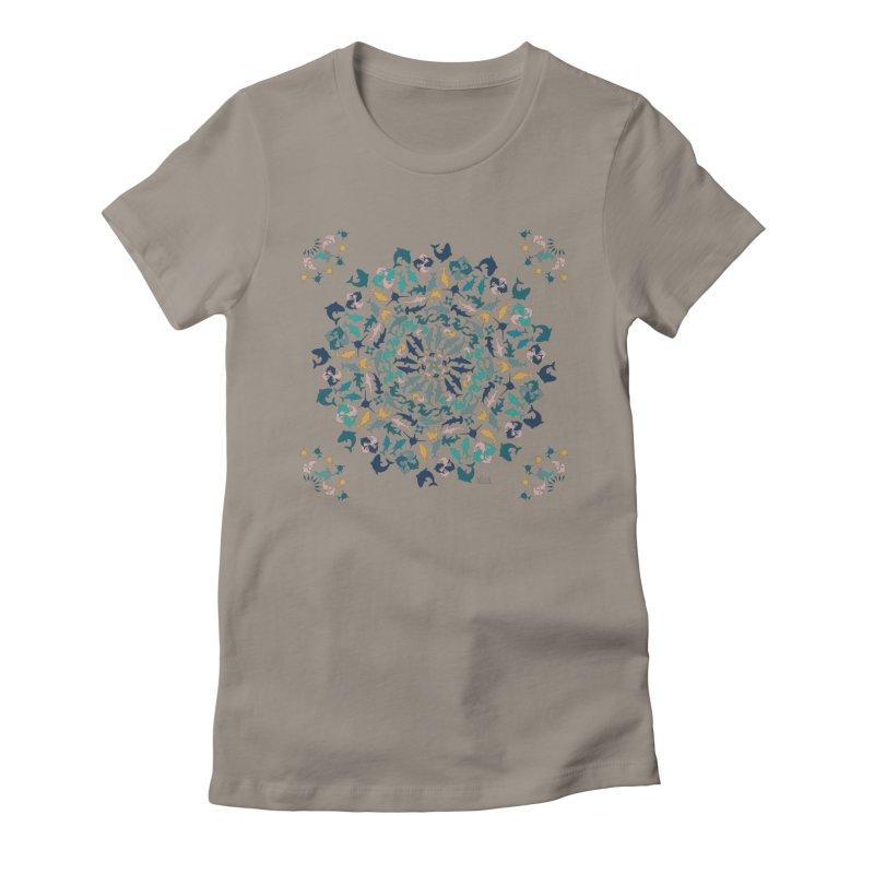 Sharks on Mandala Women's T-Shirt by BrocoliArtprint
