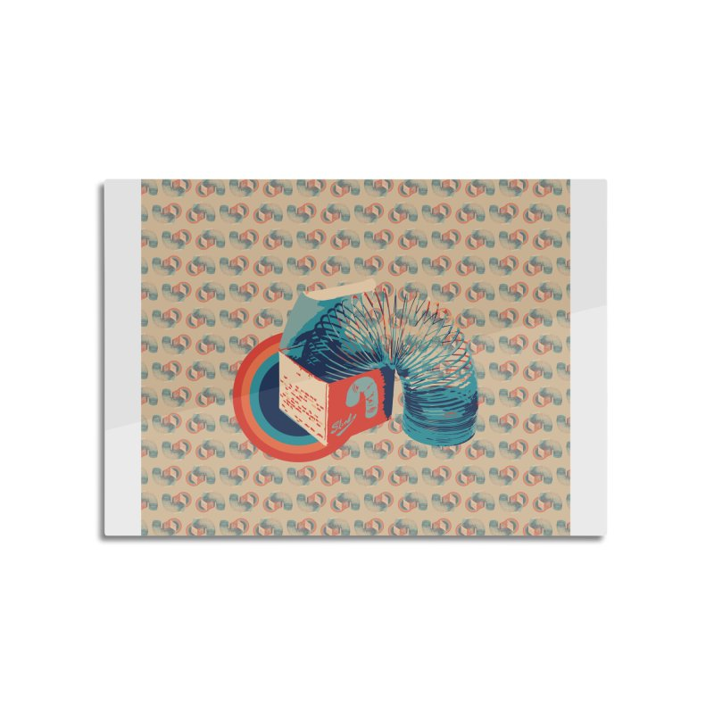 Slinky Home Mounted Aluminum Print by BrocoliArtprint