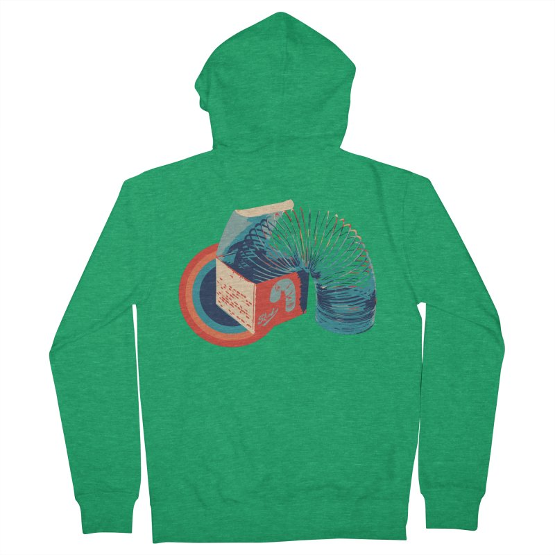 Slinky Men's Zip-Up Hoody by BrocoliArtprint