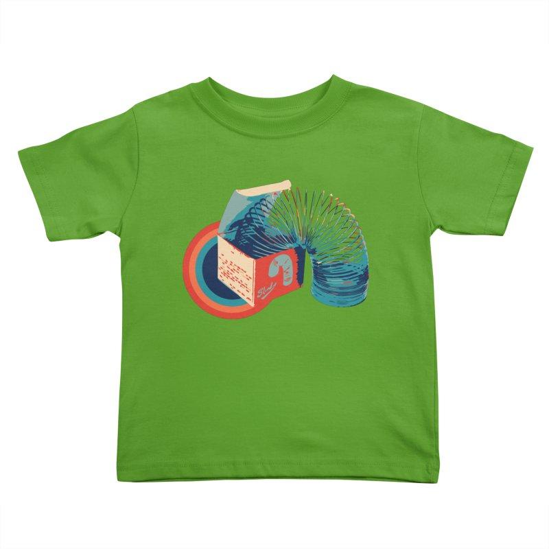 Slinky Kids Toddler T-Shirt by BrocoliArtprint