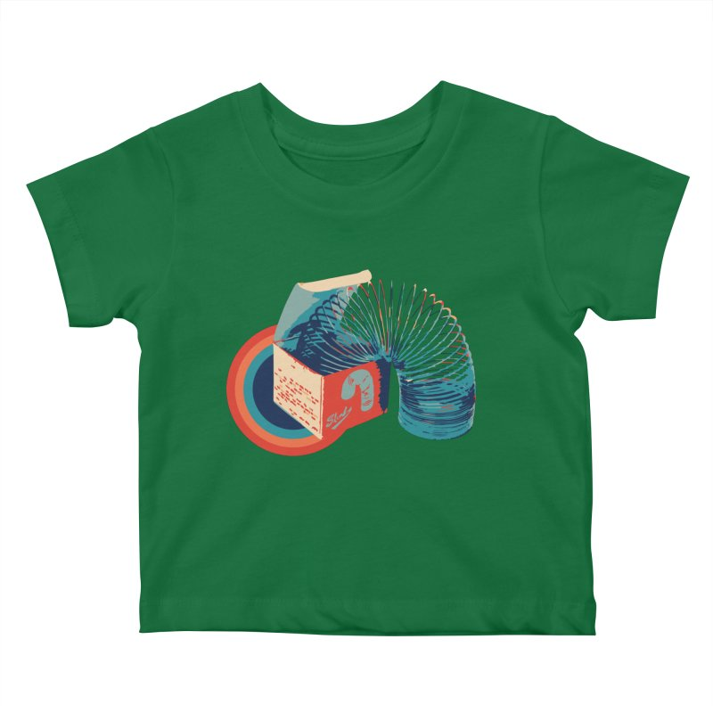 Slinky Kids Baby T-Shirt by BrocoliArtprint