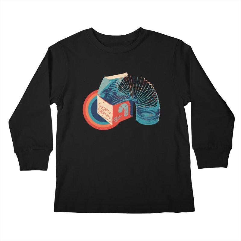 Slinky Kids Longsleeve T-Shirt by BrocoliArtprint