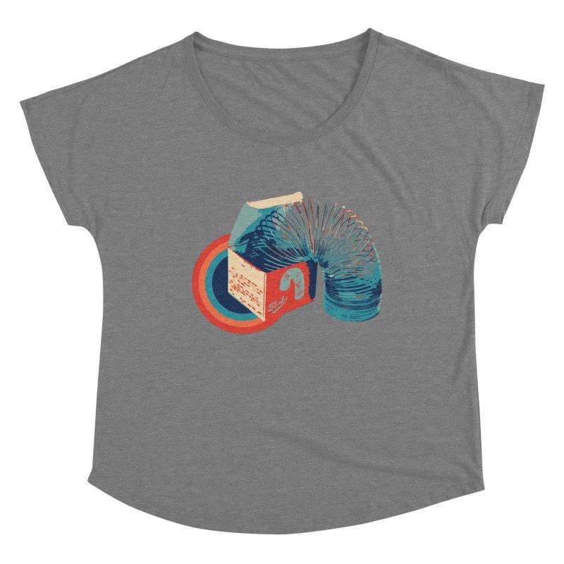 Slinky Women's Scoop Neck by BrocoliArtprint