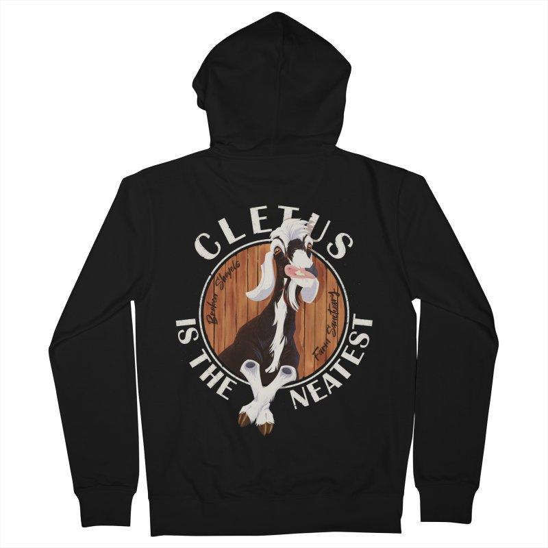 Cletus is the Neatest! Men's Zip-Up Hoody by Broken Shovels Farm Sanctuary Shop