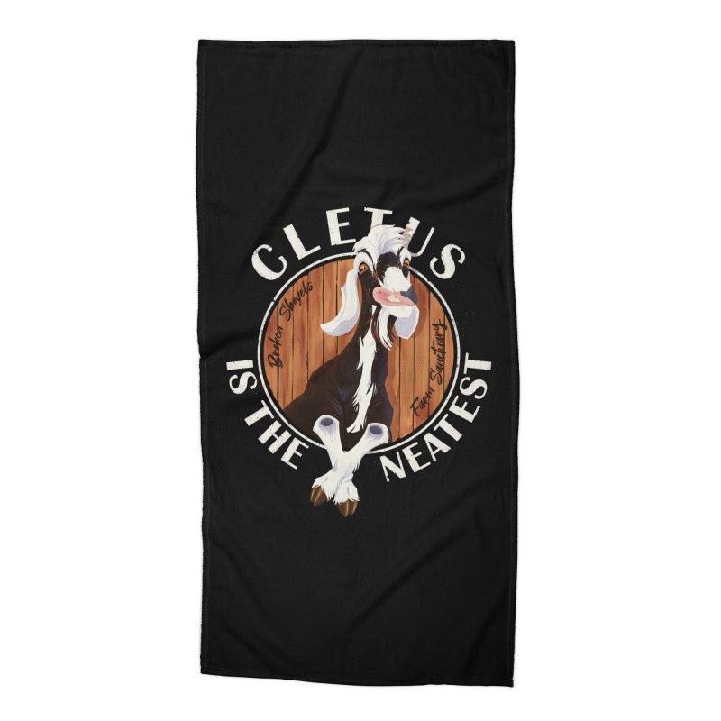 Cletus is the Neatest! Accessories Beach Towel by Broken Shovels Farm Sanctuary Shop