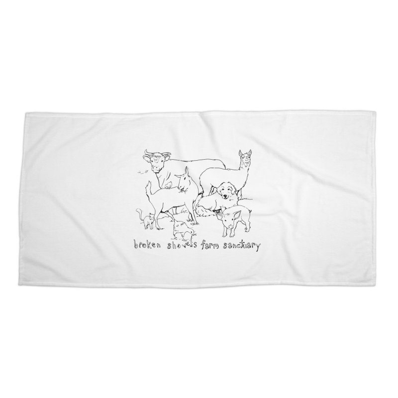 Broken Shovels Farm Sanctuary Logo Accessories Beach Towel by Broken Shovels Farm Sanctuary Shop