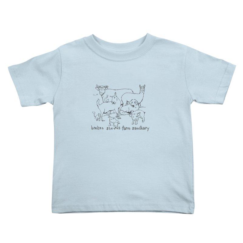 Broken Shovels Farm Sanctuary Logo Kids Toddler T-Shirt by Broken Shovels Farm Sanctuary Shop