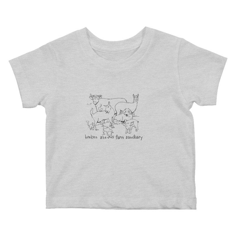 Broken Shovels Farm Sanctuary Logo Kids Baby T-Shirt by Broken Shovels Farm Sanctuary Shop
