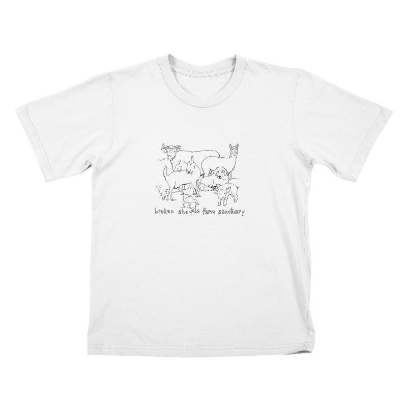 Broken Shovels Farm Sanctuary Logo Kids T-Shirt by Broken Shovels Farm Sanctuary Shop