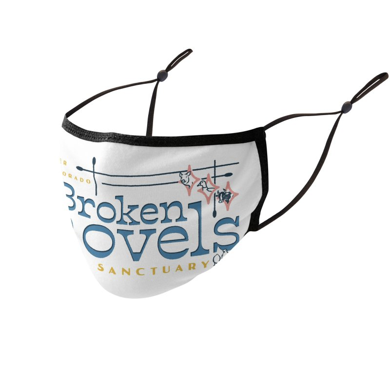 Vintage Broken Shovels Logo Accessories Face Mask by Broken Shovels Farm Sanctuary Shop