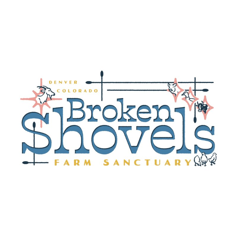 Vintage Broken Shovels Logo Accessories Notebook by Broken Shovels Farm Sanctuary Shop