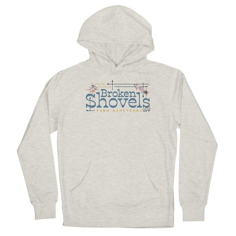 Vintage Broken Shovels Logo Women's Pullover Hoody by Broken Shovels Farm Sanctuary Shop