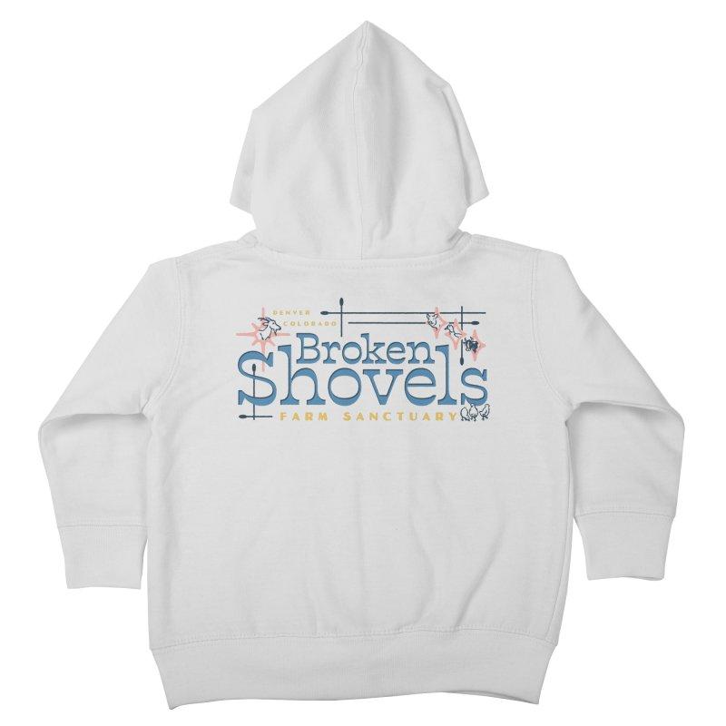 Vintage Broken Shovels Logo Kids Toddler Zip-Up Hoody by Broken Shovels Farm Sanctuary Shop