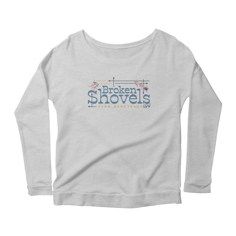 Vintage Broken Shovels Logo Women's Longsleeve T-Shirt by Broken Shovels Farm Sanctuary Shop