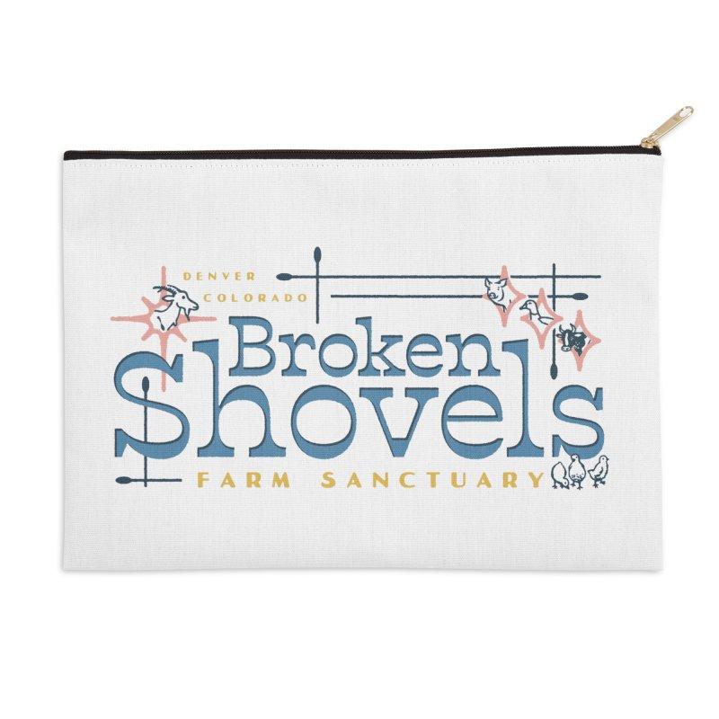 Vintage Broken Shovels Logo Accessories Zip Pouch by Broken Shovels Farm Sanctuary Shop
