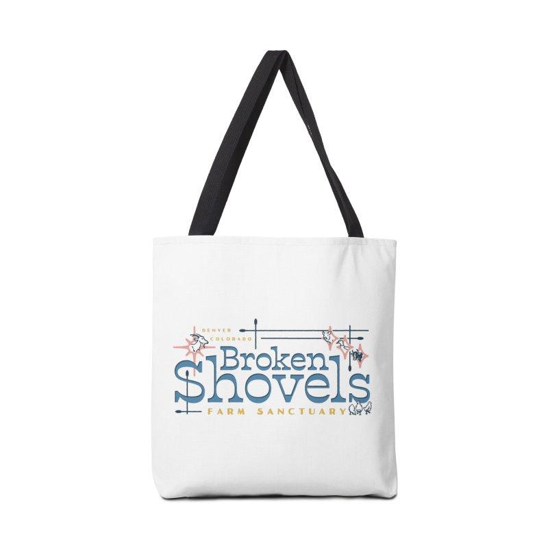 Vintage Broken Shovels Logo Accessories Bag by Broken Shovels Farm Sanctuary Shop