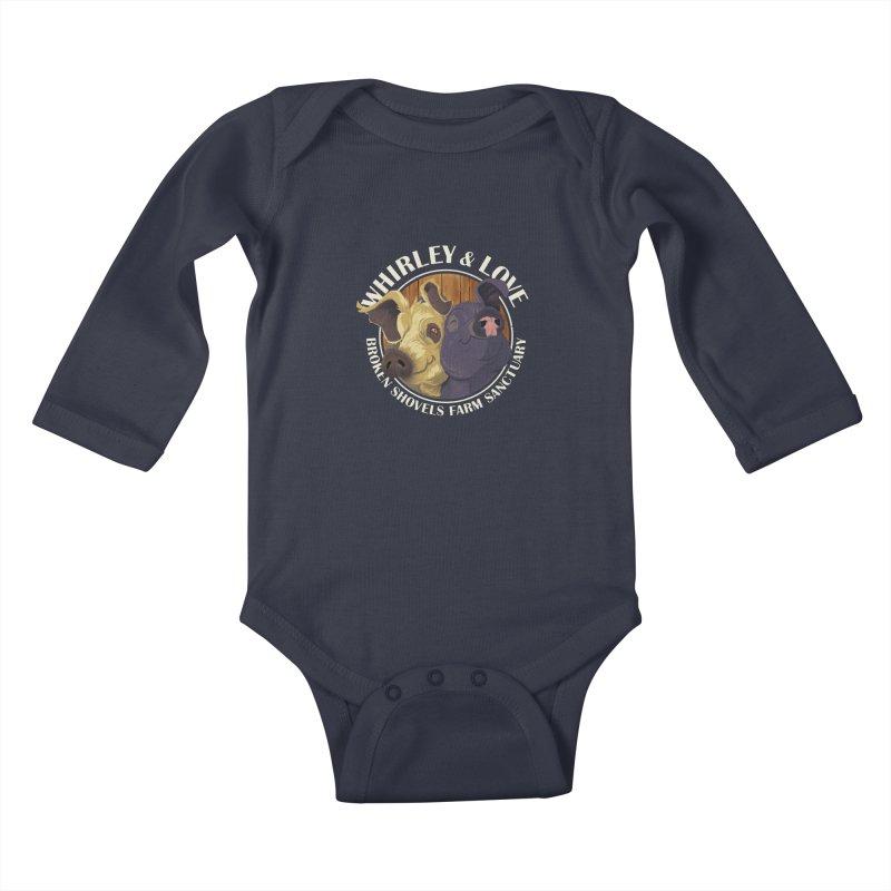 Love & Whirley Kids Baby Longsleeve Bodysuit by Broken Shovels Farm Sanctuary Shop
