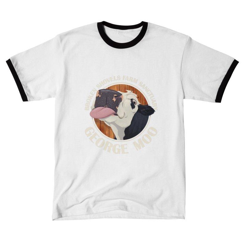 George Moo! Men's T-Shirt by Broken Shovels Farm Sanctuary Shop