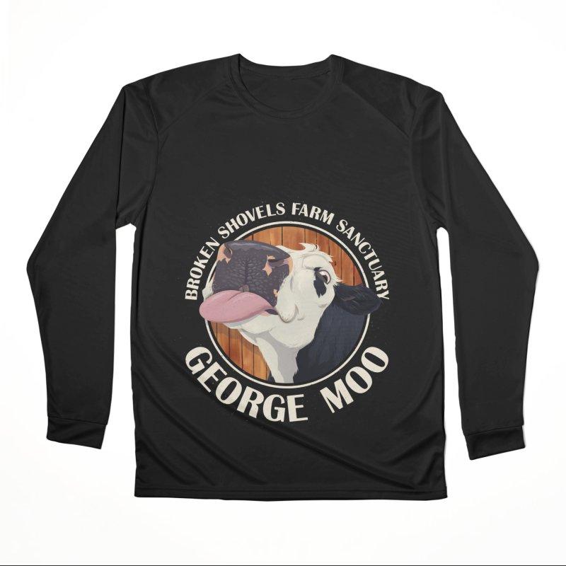 George Moo! Men's Longsleeve T-Shirt by Broken Shovels Farm Sanctuary Shop