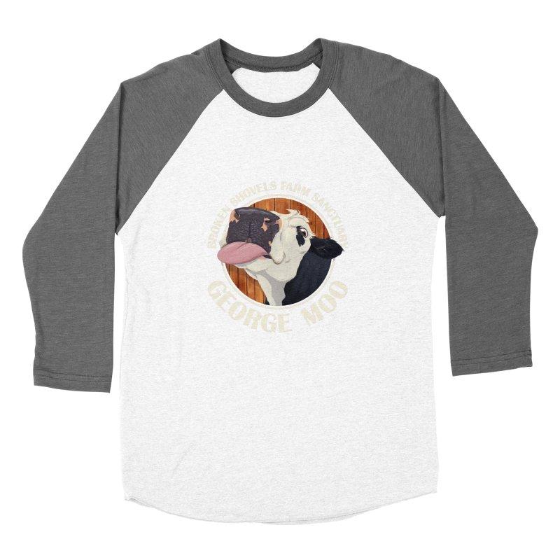 George Moo! Women's Longsleeve T-Shirt by Broken Shovels Farm Sanctuary Shop