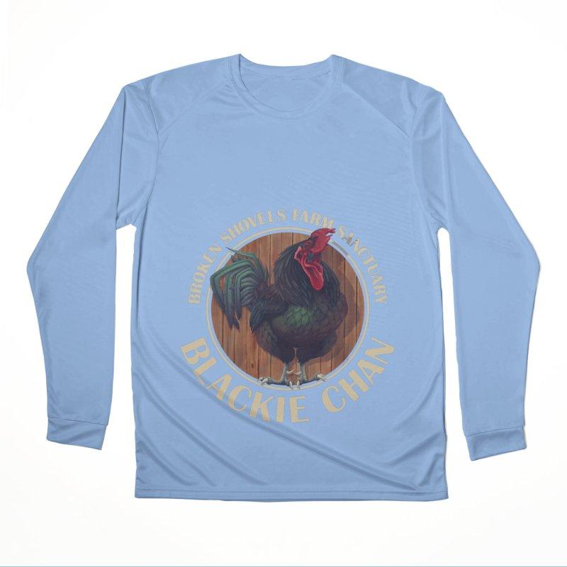 Blackie Chan! Women's Longsleeve T-Shirt by Broken Shovels Farm Sanctuary Shop
