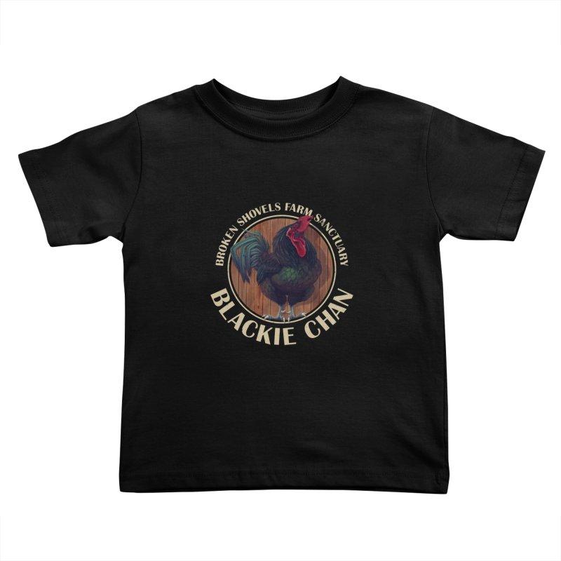 Blackie Chan! Kids Toddler T-Shirt by Broken Shovels Farm Sanctuary Shop