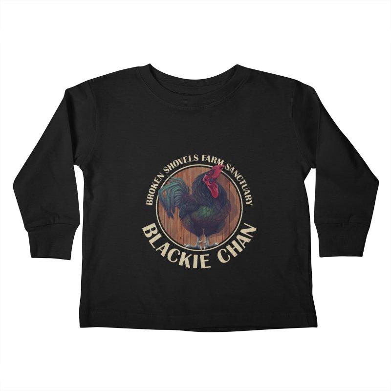 Blackie Chan! Kids Toddler Longsleeve T-Shirt by Broken Shovels Farm Sanctuary Shop