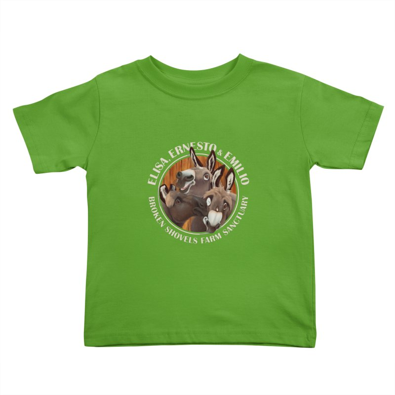 The Mini Donks! Kids Toddler T-Shirt by Broken Shovels Farm Sanctuary Shop