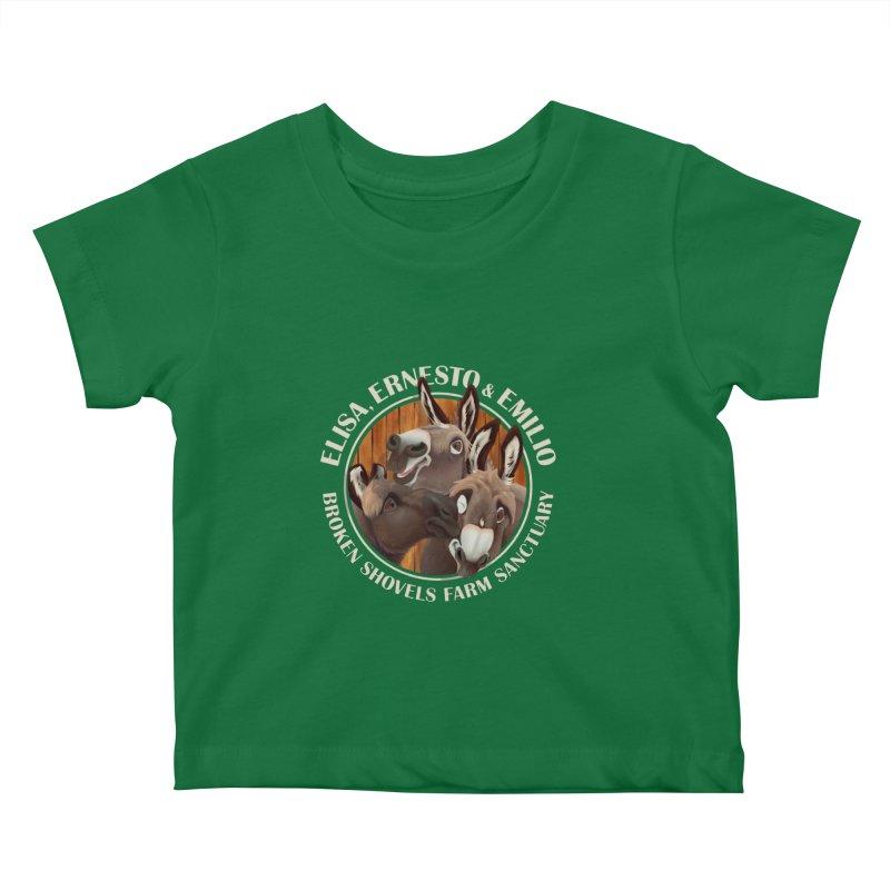 The Mini Donks! Kids Baby T-Shirt by Broken Shovels Farm Sanctuary Shop