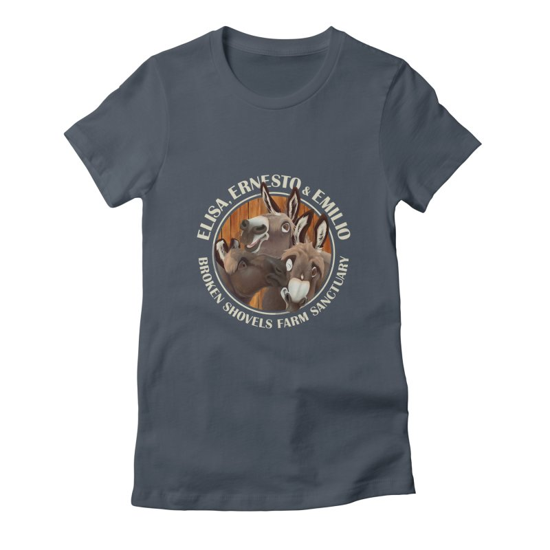 The Mini Donks! Women's T-Shirt by Broken Shovels Farm Sanctuary Shop