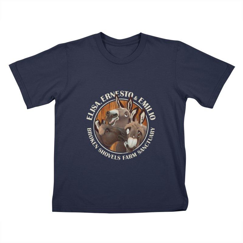 The Mini Donks! Kids T-Shirt by Broken Shovels Farm Sanctuary Shop
