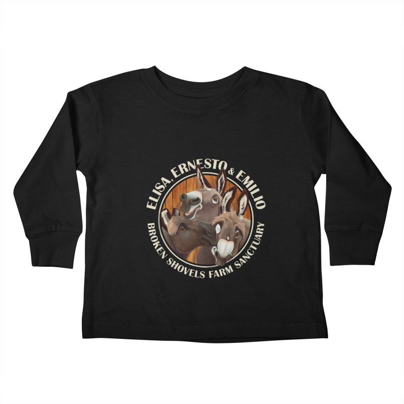 The Mini Donks! Kids Toddler Longsleeve T-Shirt by Broken Shovels Farm Sanctuary Shop