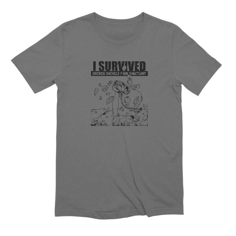 I Survived! Men's T-Shirt by Broken Shovels Farm Sanctuary Shop