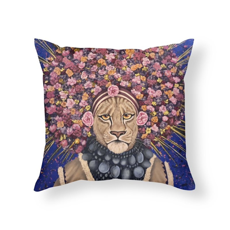 Glamour Salvaje Home Throw Pillow by Bryunholt's Artist Shop