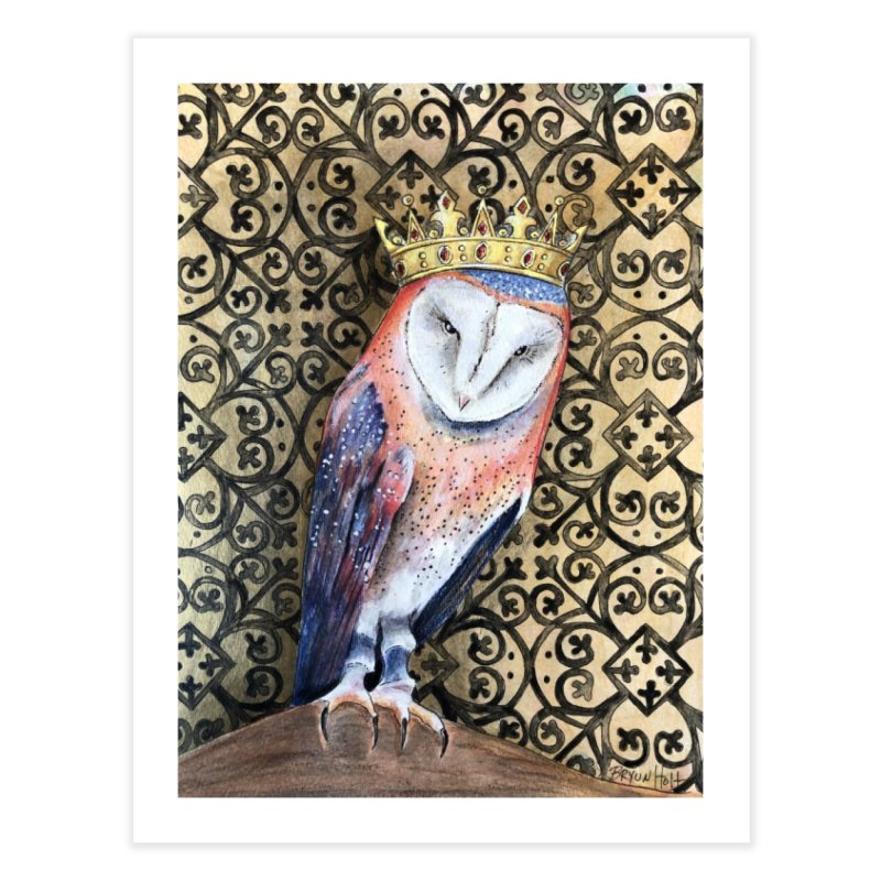 Owl King Home Fine Art Print by Bryunholt's Artist Shop