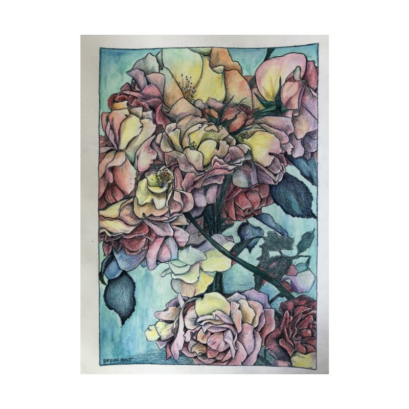 Rose Bunch Home Shower Curtain by Bryunholt's Artist Shop