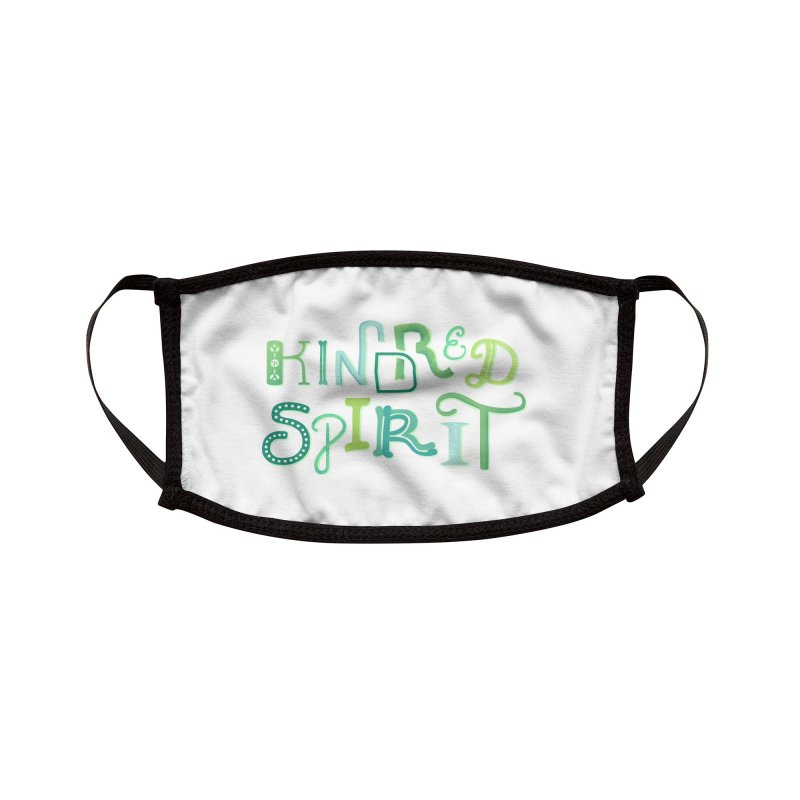 Kindred Spirit (Green) Accessories Face Mask by BumbleBess