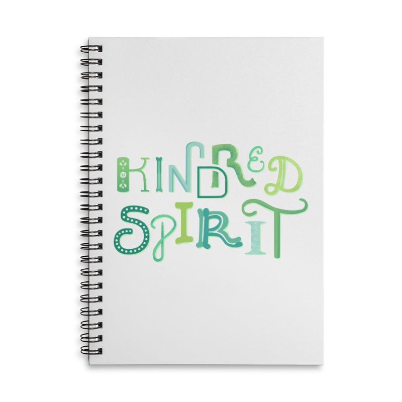 Kindred Spirit (Green) Accessories Lined Spiral Notebook by BumbleBess