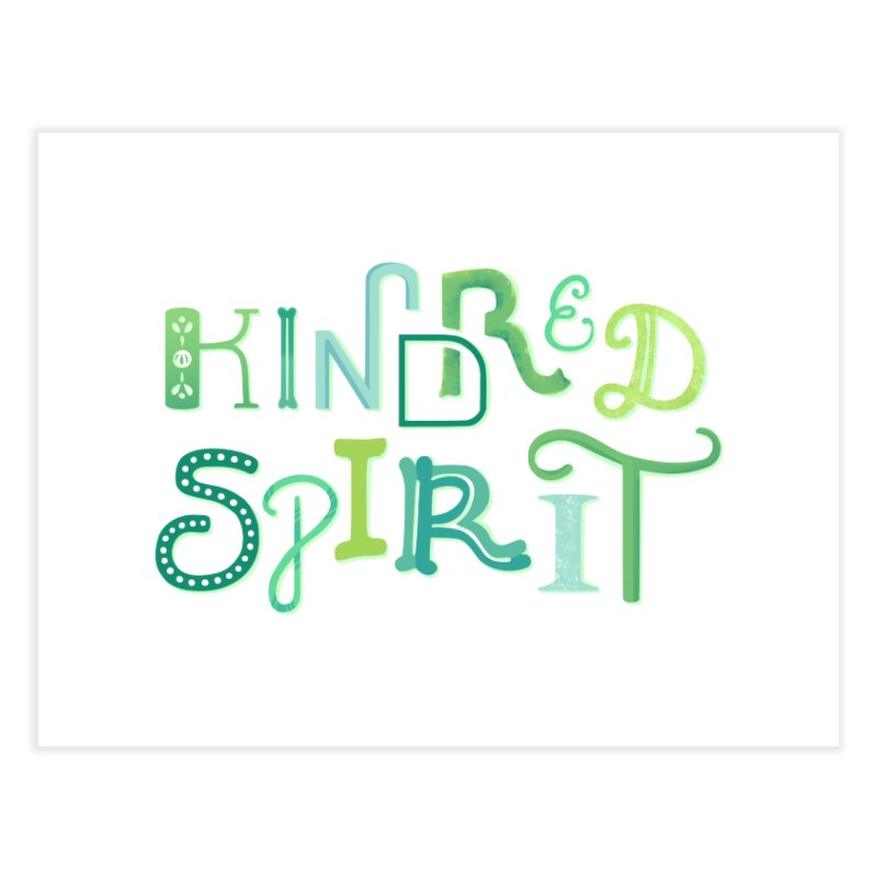 Kindred Spirit (Green) Home Fine Art Print by BumbleBess
